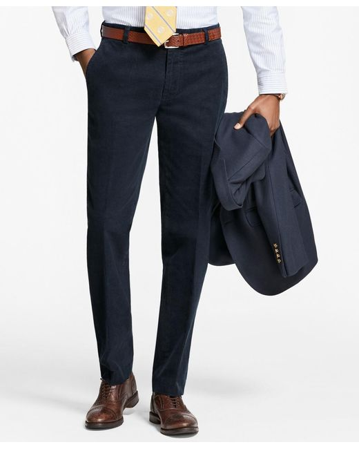 Brooks Brothers - Blue Milano Fit Fine Wale Stretch Corduroys for Men - Lyst