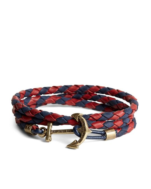 Brooks Brothers - Multicolor Kiel James Patrick Leather Wrap Bracelet for Men - Lyst