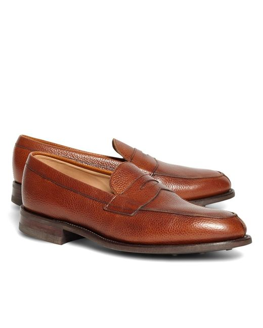 Brooks Brothers - Brown Peal & Co.® Cognac Pebble Loafers for Men - Lyst