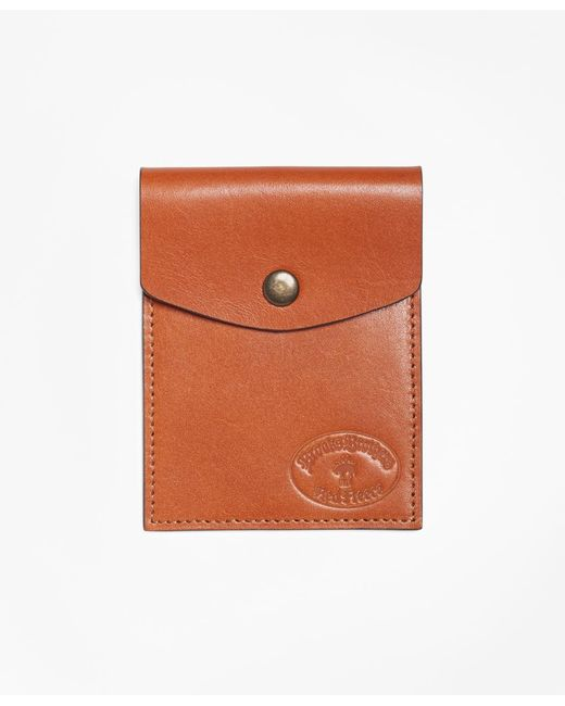 Brooks Brothers | Brown Leather Card Case | Lyst