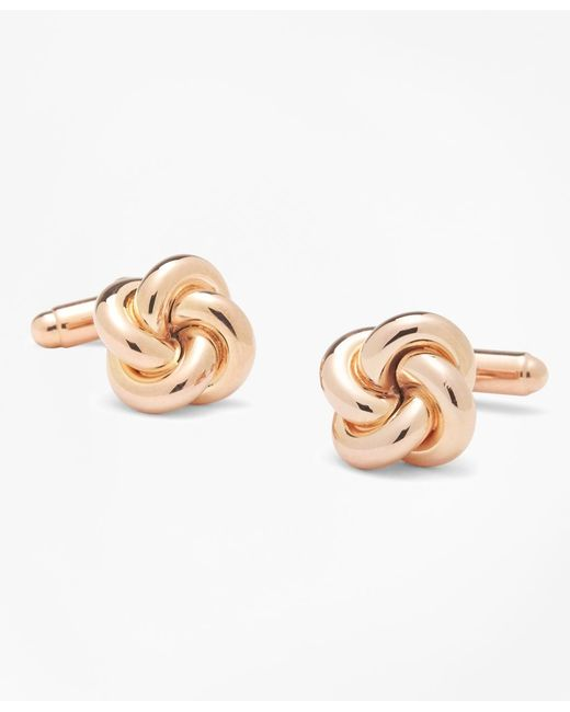 Brooks Brothers - Metallic Oversized Love Knot Cuff Links - Lyst