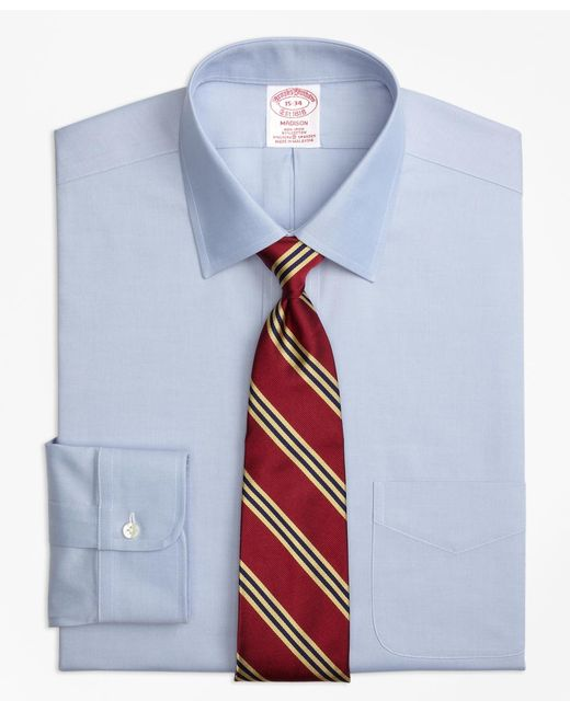 Brooks Brothers | Blue Non-iron Madison Fit Spread Collar Stretch Dress Shirt for Men | Lyst