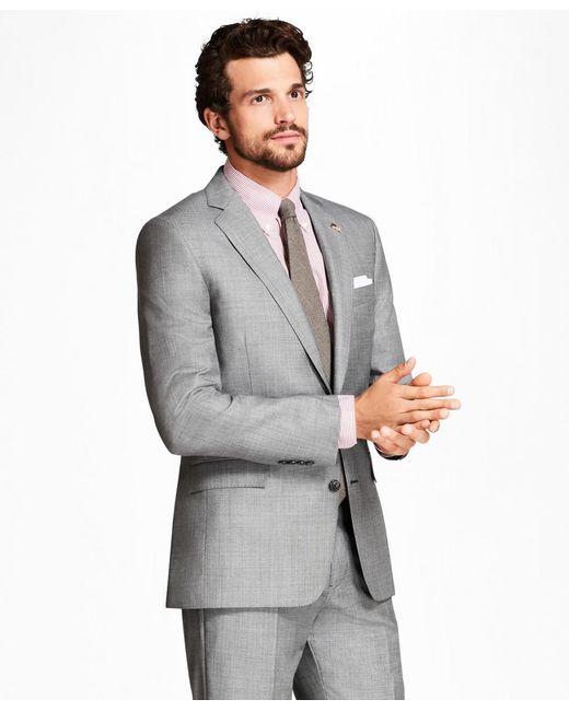 Brooks Brothers - Gray Regent Fit Sharkskin 1818 Suit for Men - Lyst