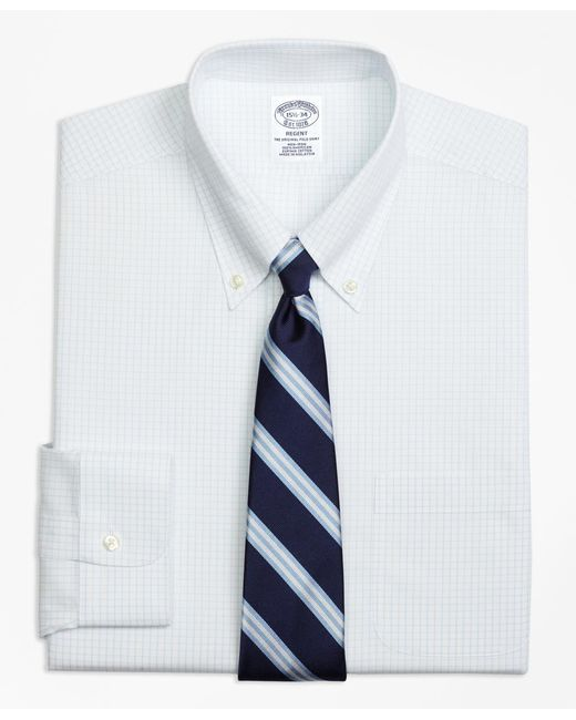 Brooks Brothers - White Non-iron Regent Fit Graph Check Dress Shirt for Men - Lyst
