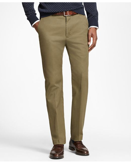 Brooks Brothers - Green Milano Fit Piece-dyed Supima® Cotton Stretch Chinos for Men - Lyst