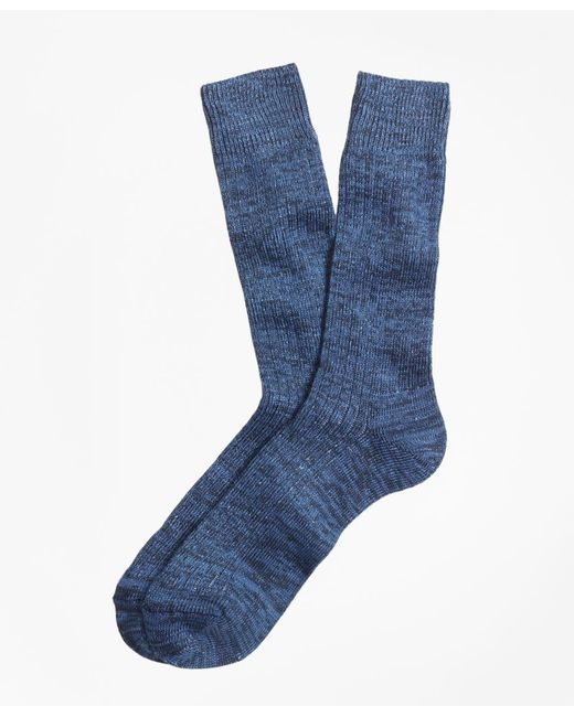 Brooks Brothers - Blue Marled Crew Socks for Men - Lyst