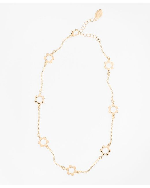Brooks Brothers - Metallic Floral Station Necklace - Lyst