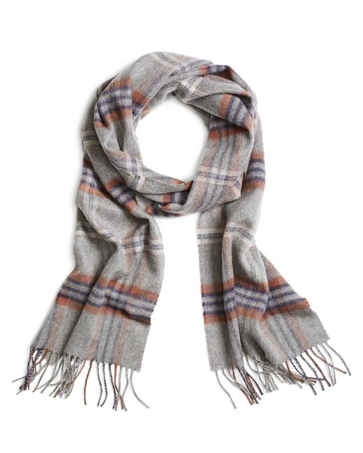 Brooks Brothers | Gray Cashmere Tartan Scarf for Men | Lyst