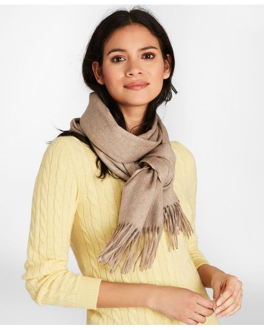 Brooks Brothers - Natural Cashmere Scarf - Lyst