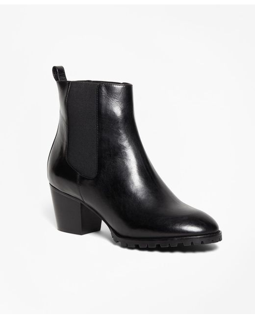 Brooks Brothers - Black Short Lug Sole Boots - Lyst