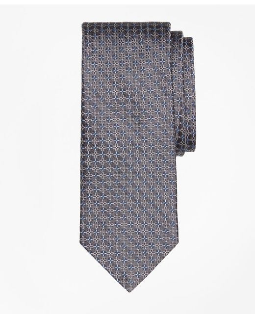 Brooks Brothers - Gray Flower Link Tie for Men - Lyst
