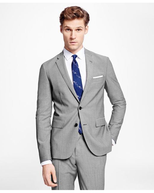 Brooks Brothers   Gray Sharkskin Suit Jacket for Men   Lyst