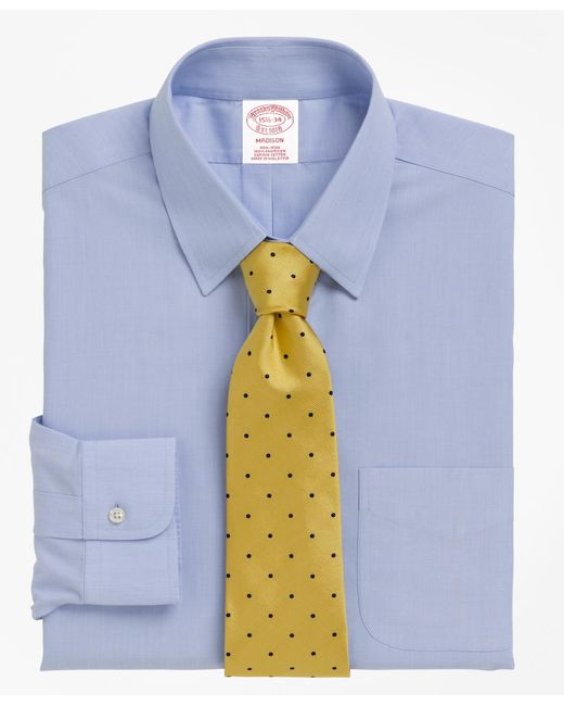 Brooks Brothers - Blue Non-iron Madison Fit Tab Collar Dress Shirt for Men - Lyst