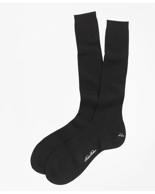 Brooks Brothers | Black Merino Wool Garter Sized Over-the-calf Socks for Men | Lyst
