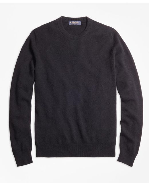 Brooks Brothers | Black Cashmere Crewneck Sweater-basic Colors for Men | Lyst