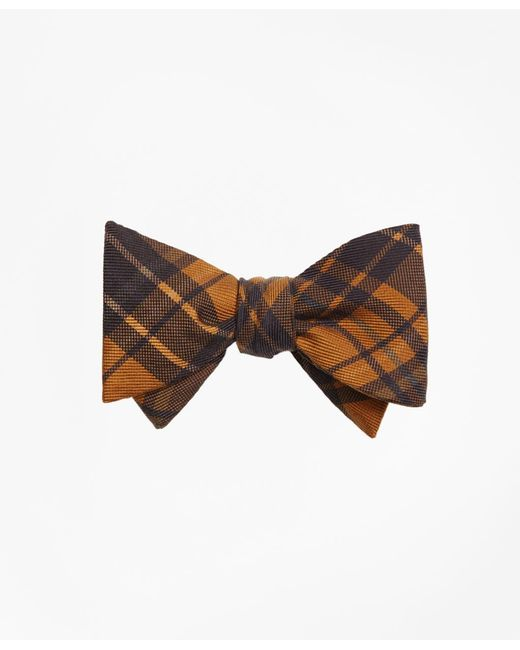 Brooks Brothers | Metallic Ancient Madder Plaid Print Bow Tie for Men | Lyst