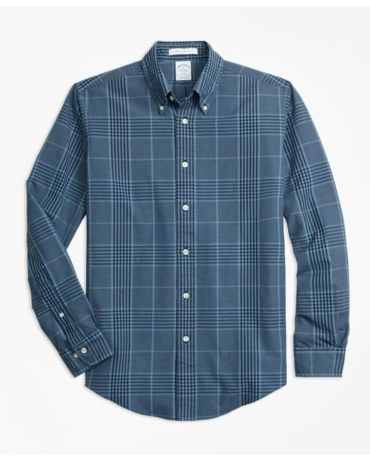 Brooks Brothers - Blue Regent Fit Indigo Glen Plaid Sport Shirt for Men - Lyst