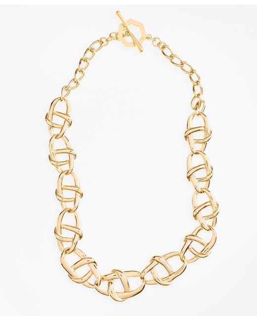 Brooks Brothers - Metallic Gold-plated Nautical Link Necklace - Lyst