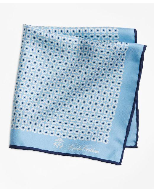 Brooks Brothers | Blue Flower Medallion Pocket Square for Men | Lyst