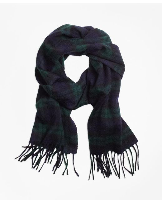 Brooks Brothers - Natural Cashmere Black Watch Scarf for Men - Lyst