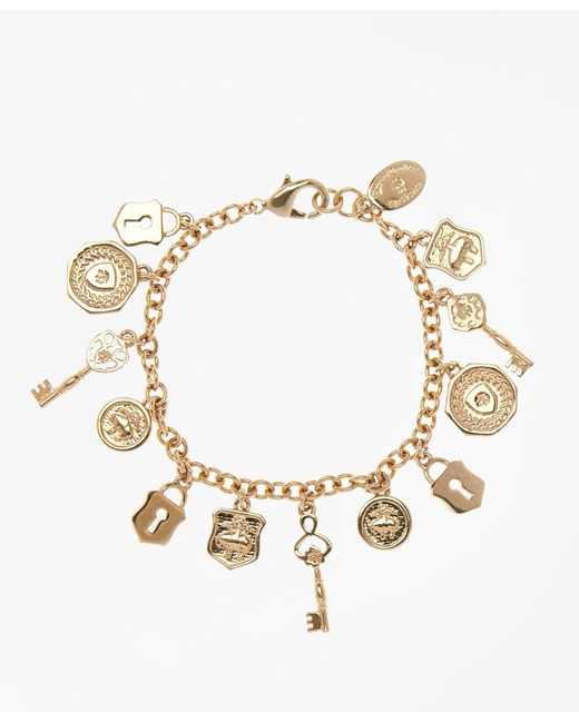 Brooks Brothers | Metallic Gold-plated Golden Fleece® Charm Bracelet | Lyst