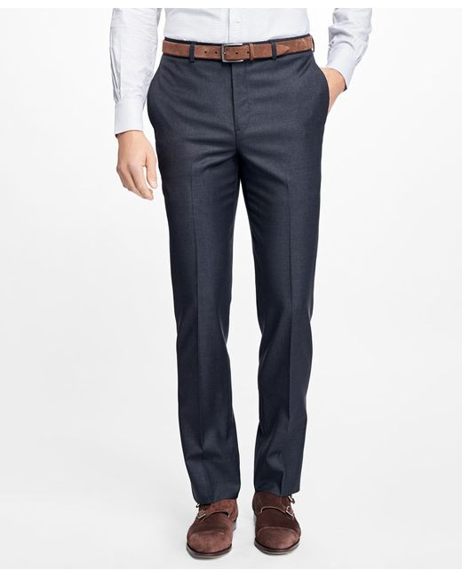 Brooks Brothers | Gray Fitzgerald Fit Wool Dress Trousers for Men | Lyst