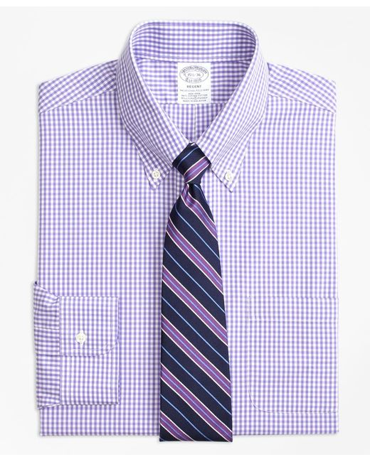 Lyst brooks brothers stretch regent fitted dress shirt for How to stretch a dress shirt