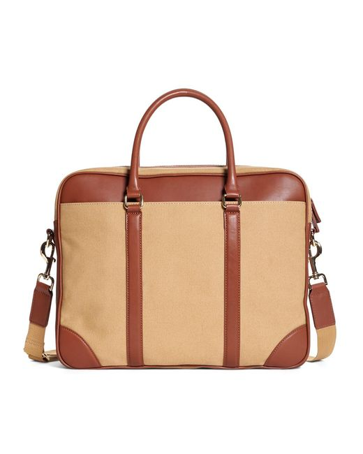 Brooks Brothers - Natural Canvas Soft Briefcase for Men - Lyst