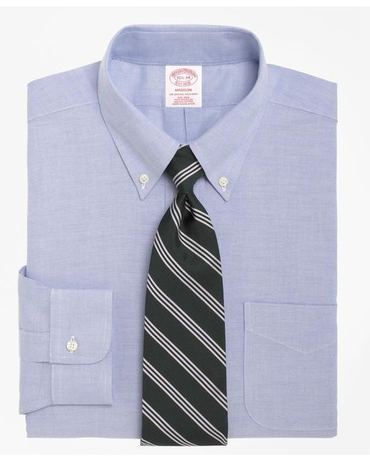 Brooks Brothers - Blue Non-iron Madison Fit Brookscool® Button-down Collar Dress Shirt for Men - Lyst