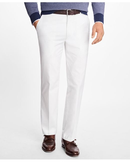 Brooks Brothers | White Milano Fit Supima® Cotton Stretch Chinos for Men | Lyst