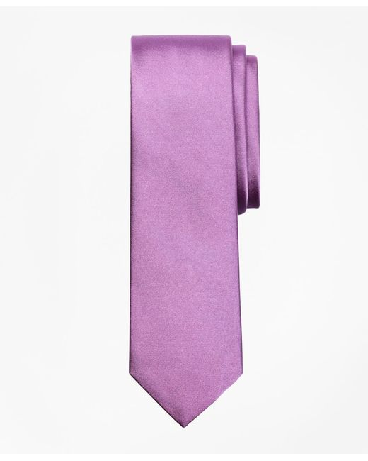 Brooks Brothers - Purple Formal Satin Slim Tie for Men - Lyst