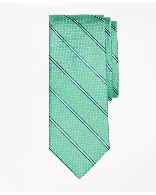 Brooks Brothers | Green Spaced Framed Stripe Tie for Men | Lyst