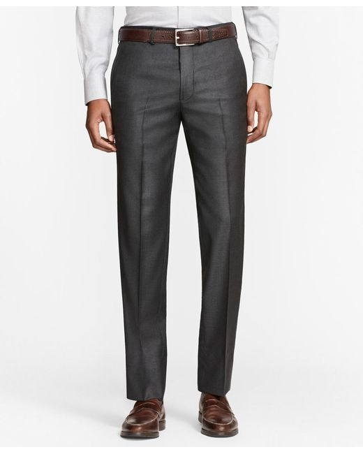 Brooks Brothers | Gray Milano Fit Whipcord Wool Trousers for Men | Lyst