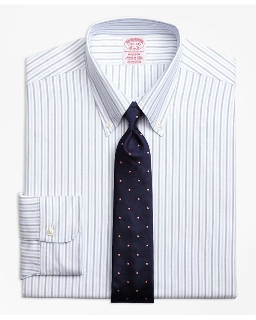 Brooks Brothers | Blue Madison Fit Original Polo® Button-down Aternating Bengal Stripe Dress Shirt for Men | Lyst