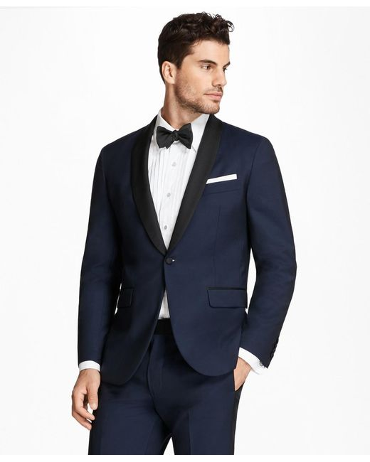 Brooks Brothers Blue Extra Slim Fit Shawl Collar Navy Tuxedo for men