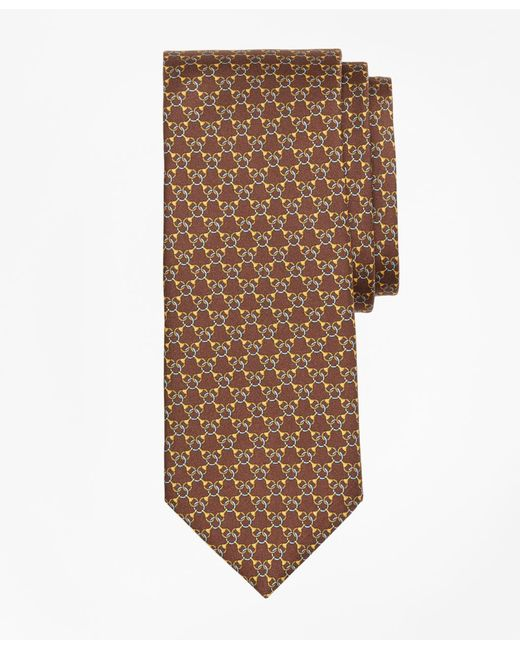 Brooks Brothers | Brown Chain Link Print Tie for Men | Lyst