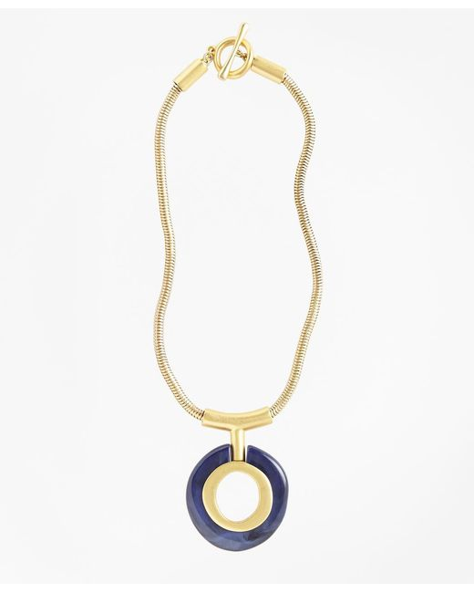 Brooks Brothers   Metallic Gold-plated Pendant Necklace   Lyst