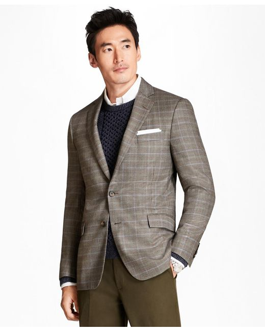 58767c5b0f5 Brooks Brothers - Brown Regent Fit Tic With Double-windowpane Sport Coat for  Men ...