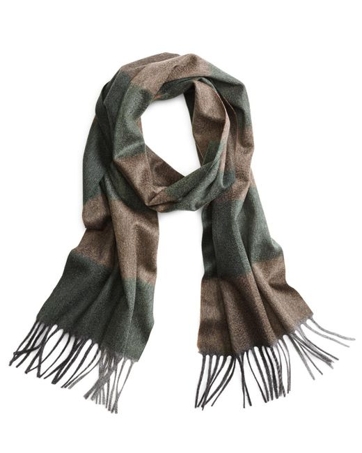 Brooks Brothers - Green Cashmere Color-block Scarf for Men - Lyst