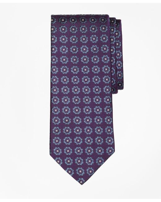 Brooks Brothers | Purple Spaced Floral Tie for Men | Lyst