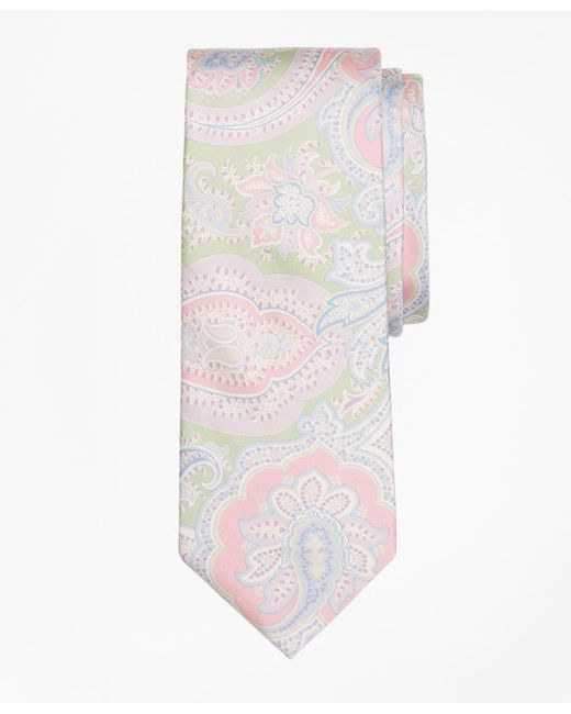 Brooks Brothers - Green Paisley Print Tie for Men - Lyst