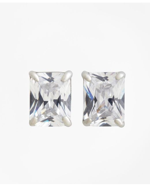 Brooks Brothers - Metallic Pierced Square Stud Earrings - Lyst