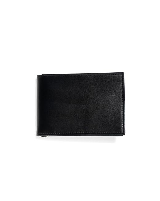 Brooks Brothers - Black French Calfskin Slim Wallet With Money Clip for Men - Lyst