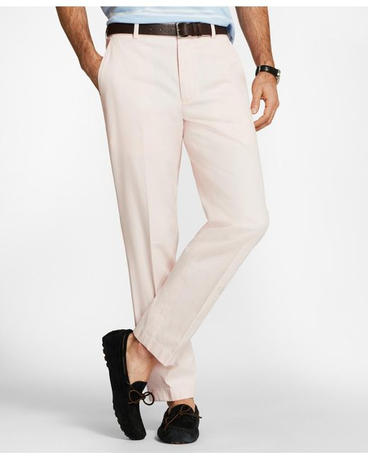 Brooks Brothers - Pink Clark Fit Supima® Cotton Stretch Chinos for Men - Lyst