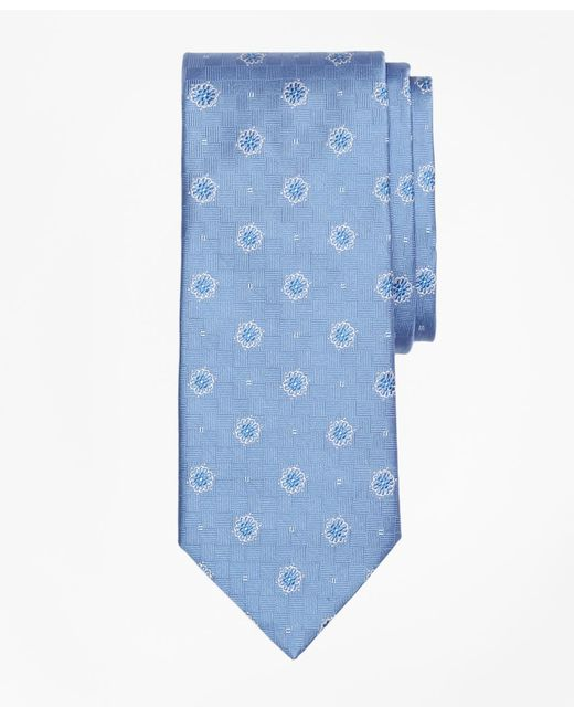 Brooks Brothers - Blue Parquet Ground Flower And Square Tie for Men - Lyst
