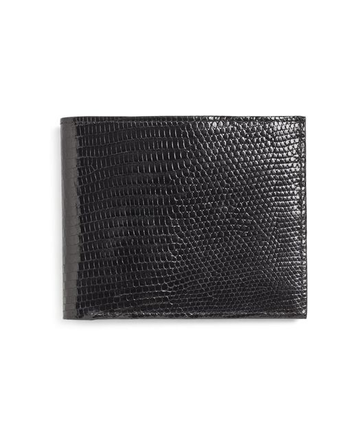 Brooks Brothers - Black Lizard Wallet for Men - Lyst