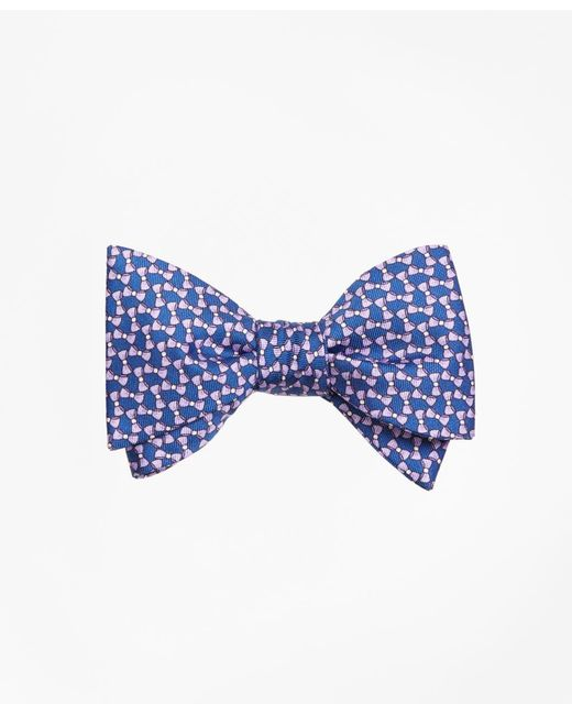 Brooks Brothers - Blue Bow Tie Motif Bow Print Tie for Men - Lyst