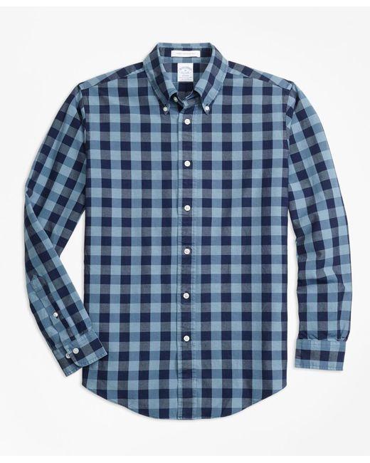 Brooks Brothers - Blue Regent Fit Indigo Gingham Sport Shirt for Men - Lyst