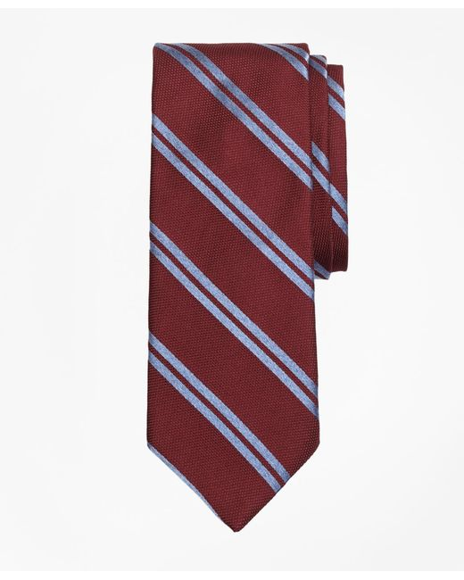 Brooks Brothers | Textured Heathered Double Stripe Tie for Men | Lyst