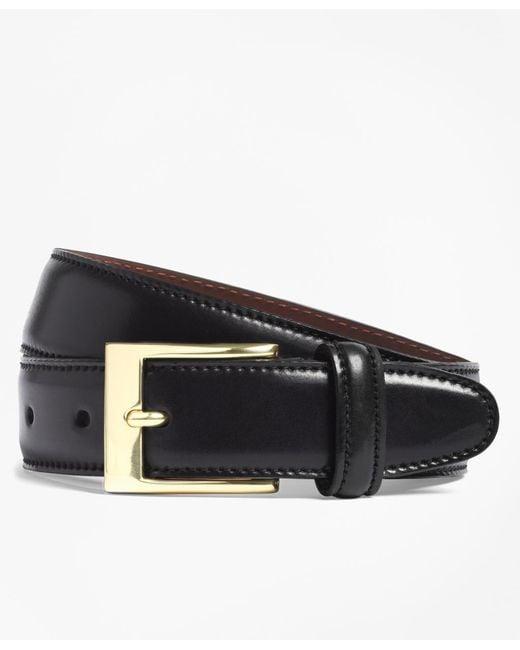 Brooks Brothers - Black Cordovan Belt for Men - Lyst